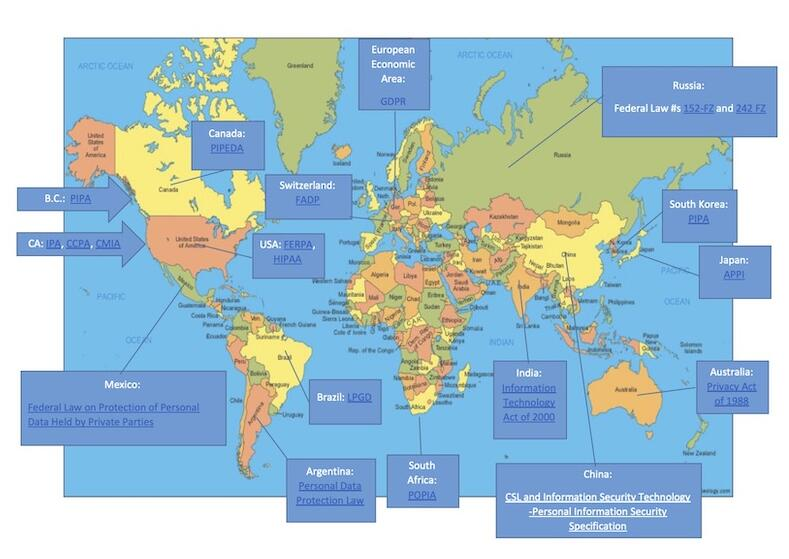 World privacy map